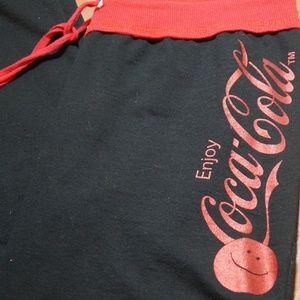 Pants - Womans Coca Cola Cotton Poly Athletic Lounge